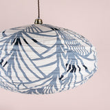 rain forest pendant round shade print