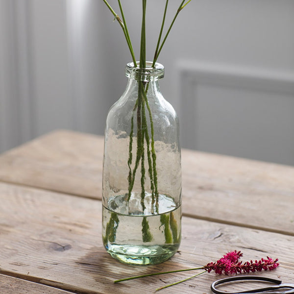 recycled glass bottle vase
