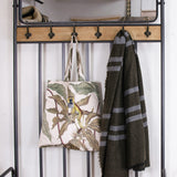 retro industrial hallstand with coat hooks