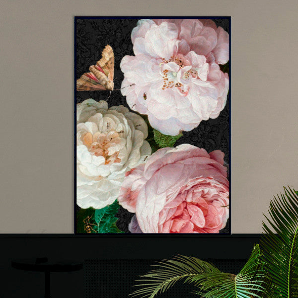 roses and moth poster