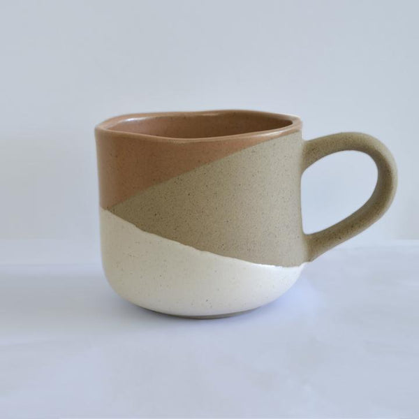 stoneware mug in earth tones