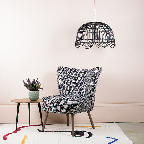 Bold Monochrome Cocktail Chair