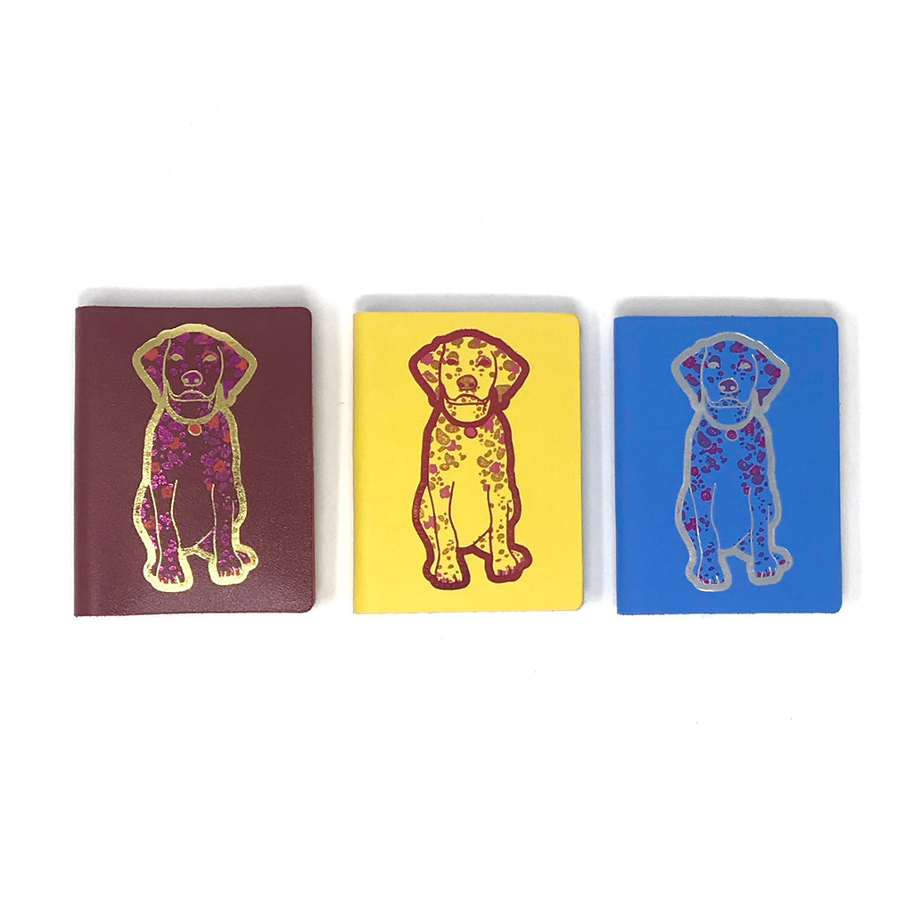 Small Leather Notebook - Yellow Dog