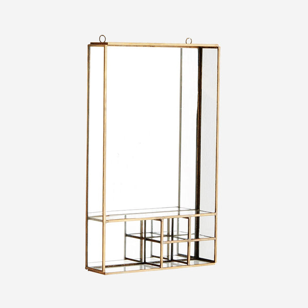 wall mirror with shelves