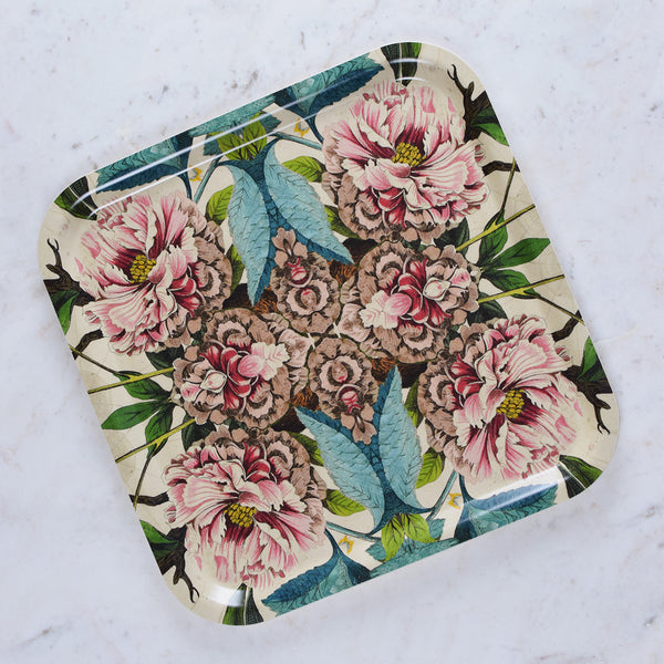 peonies kitchen tray