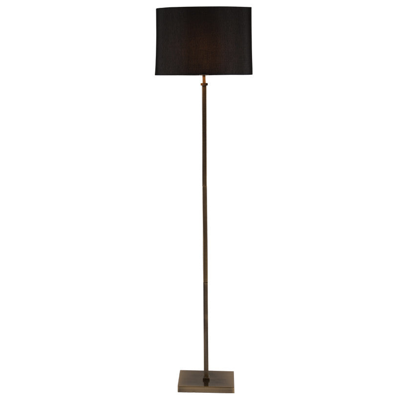 antique brass stick floor lamp and shade