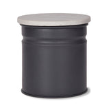 Marble and Steel Canister - Grey