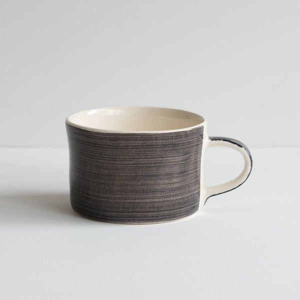 stoneware mug - plain graphite grey