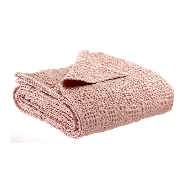 Tana Stonewashed Cotton Throw - Blush Pink
