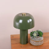 table lamp in army green detail