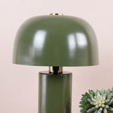 table lamp in army green lamp shade