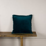 Rafa Velvet Cushion - Teal