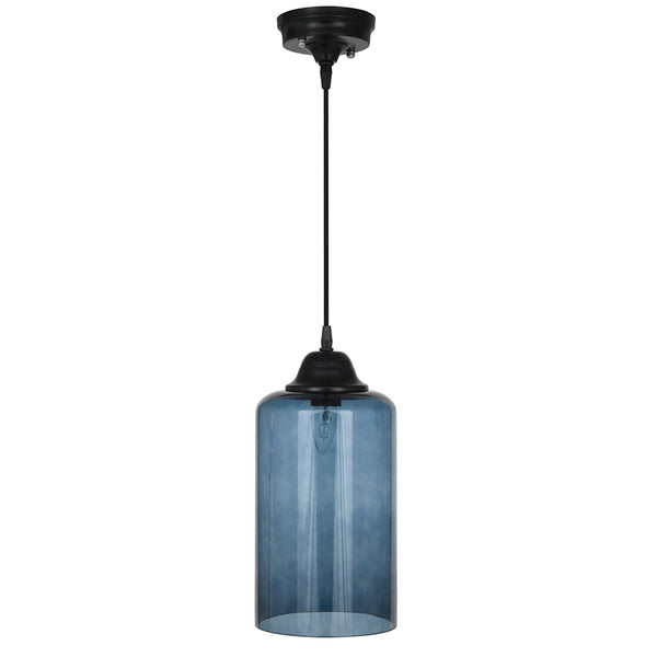 teal glass pendant light