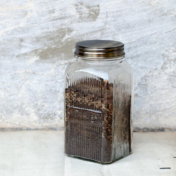glass vintage inspired tea jar