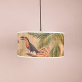 toucan bamboo pendant light close up
