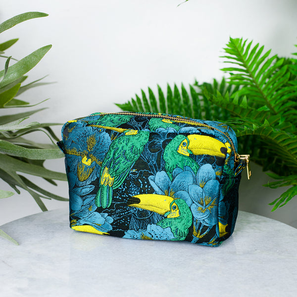 toucan makeup bag