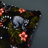 velvet lemur cushion detail