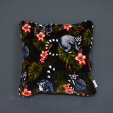 velvet lemur cushion