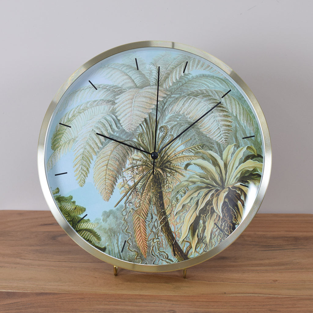 palm wall clock