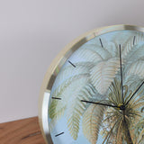 palm wall clock detail