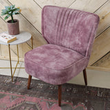 pink velvet cocktail chair legs