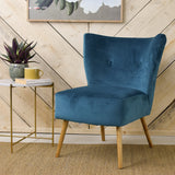 teal velvet cocktail chair legs