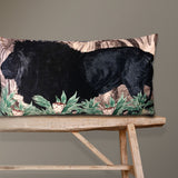 large velvet lion cushion