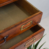 vintage multi drawer unit close up