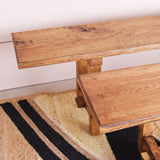 vintage oak bench detail