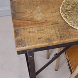 reclaimed 4 seat dining table close up