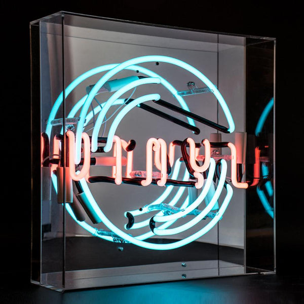 vinyl neon box light