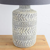 textured table lamp close up