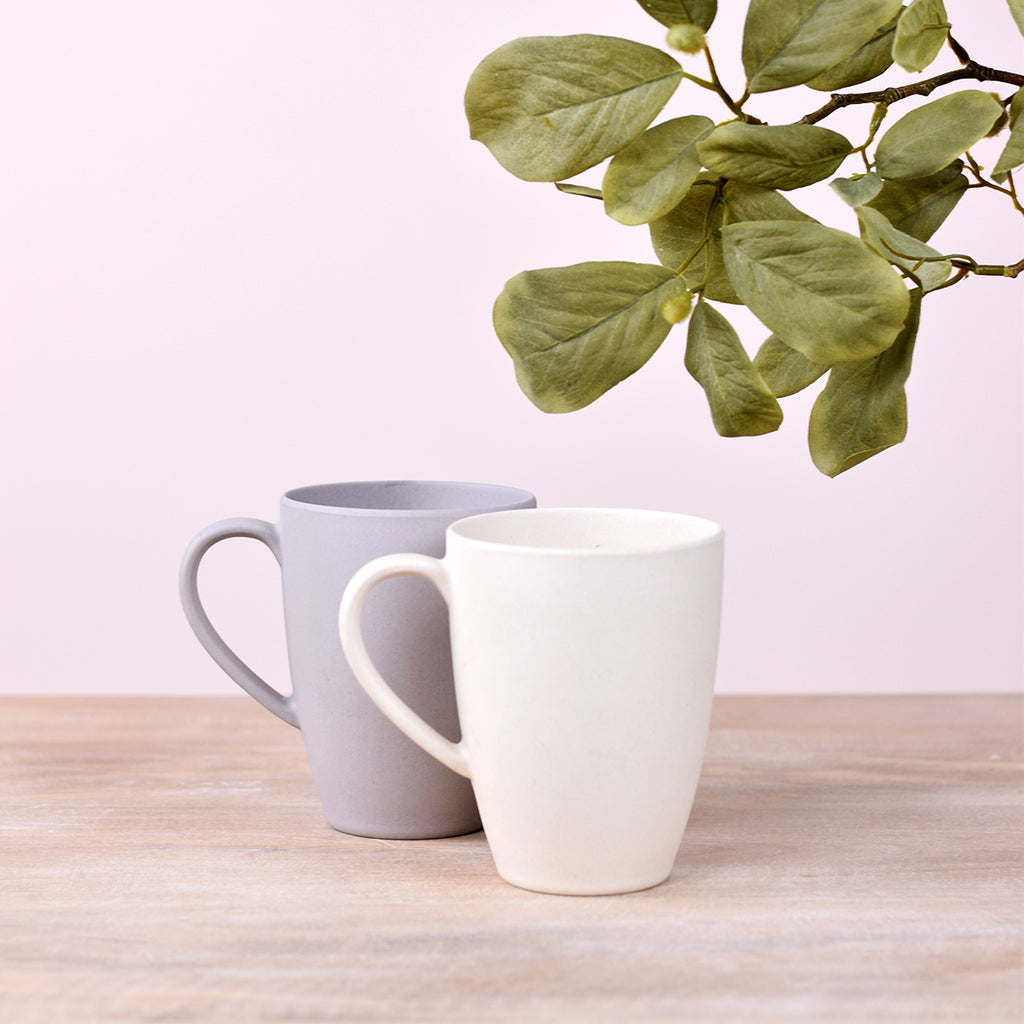 Bamboo Mug In Coconut White
