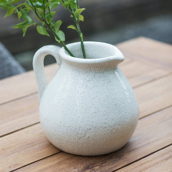 White Ceramic Flower Jug