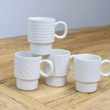 set of 4 espresso cups detail