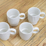 set of 4 espresso cups close up