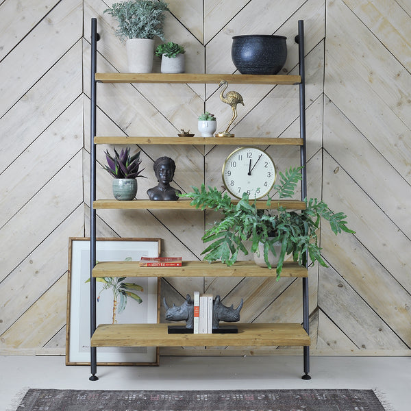 wide ladder shelves