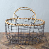 rustic wire basket detail