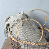 rustic wire basket close up