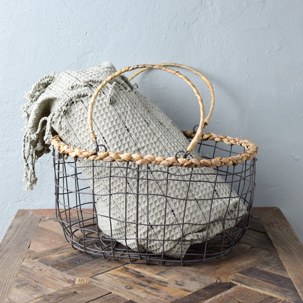 rustic wire basket
