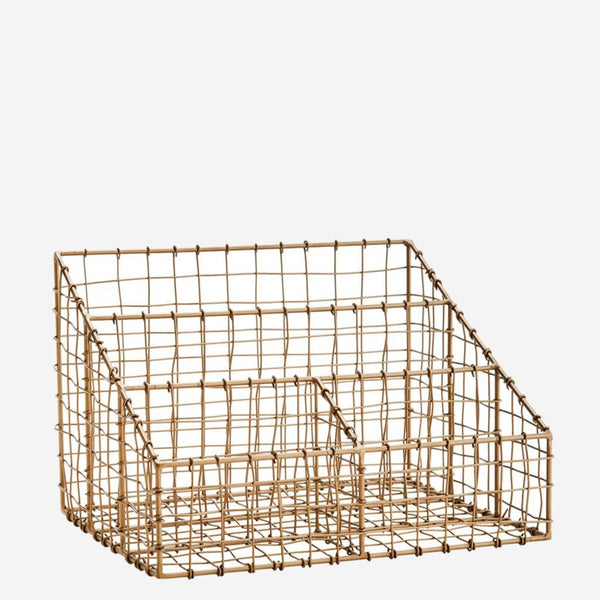 wire mesh desk organiser