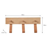 wood peg rail dimensions