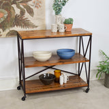 industrial shelving unit front