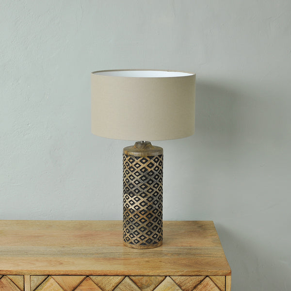 tall wooden table lamp