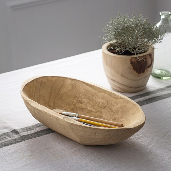 Wooden Oval Plate
