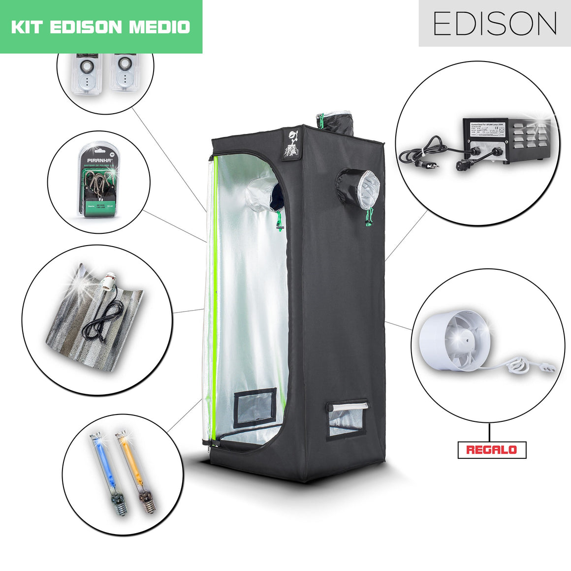 Kit Piranha Edison 60 - 250W MEDIO