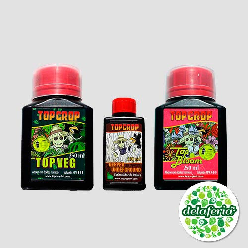Tripack 250 ml Top Crop - Indoor y Outdoor
