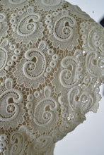 Cream Crochet Lace Top