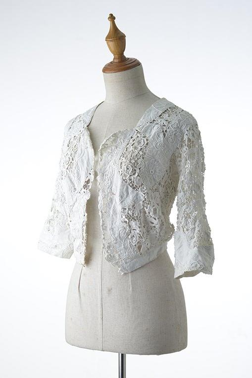 White Crochet Bolero Jacket