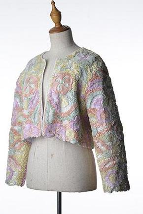 Pastel Floral Ribbon Jacket